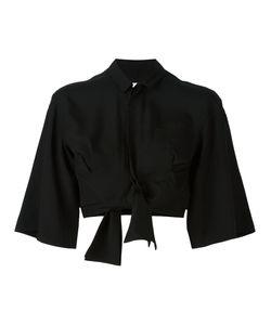 Facetasm | Cropped Bow Shirt Size 1 Tencel
