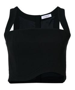 Mugler | Waved Top Womens Size 38 Viscose/Polyester/Acetate