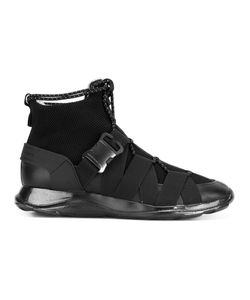 Christopher Kane | Lace Up And Buckle High Top Sneakers Mens Size