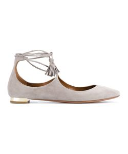 Aquazzura | Christy Suede Ballerinas Womens Size 40 Leather/Suede