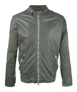 Giorgio Brato   Zip Up Jacket Mens Size 52 Cotton/Leather/Nylon