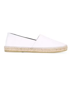 Kenzo | Embossed Espadrilles Size 39 Calf Leather/Leather/Raffia/Rubber