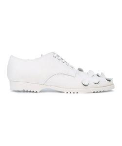 Comme Des Garçons | Cut-Out Plimsolls Womens Size 24.5 Cotton/Leather/Rubber