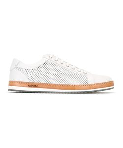 Canali | Perforated Sneakers Mens Size 42.5 Leather/Rubber