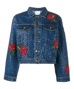 Ashish | Sequin Embellished Denim Jacket Womens Size Small Cotton