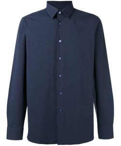 Raf Simons | Button-Up Logo Shirt Mens Size 48 Cotton/Polyurethane
