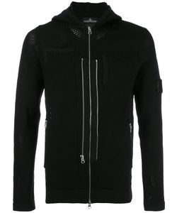 Stone Island Shadow Project | Multi Zip Perforated Detail Hoodie Mens Size