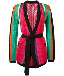 Balmain | Striped Knitted Jacket Womens Size 38 Polyamide/Viscose