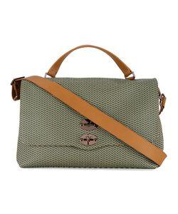 Zanellato   Patterned Shoulder Bag With Contrast Handles And Shoulder Strap Mens