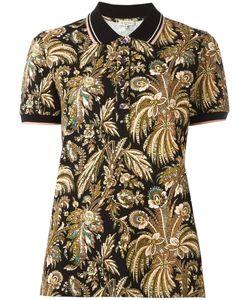 Etro | Paisley Print Polo Shirt Womens Size 46 Cotton/Spandex/Elastane
