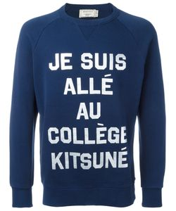 Maison Kitsuné   Je Suis Print Sweatshirt Mens Size Large Cotton
