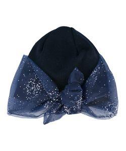 Federica Moretti | Glitter Bow Detail Beanie Womens Polyester/Cotton