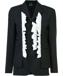 Comme Des Garçons | Frill Trim Blazer Womens Size Medium Cotton
