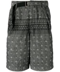 Sacai | Patterned Shorts Mens Size 3 Cotton