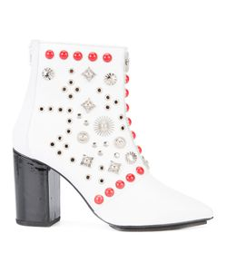 Toga | Studded Ankle Boots Womens Size 39 Lamb Skin/Patent Leather/Metal