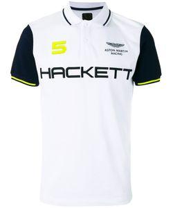 Hackett | Logo Print Polo Shirt Mens Size Medium Cotton/Spandex/Elastane