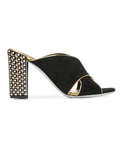 Rene Caovilla | René Caovilla Hill Sandals Womens Size 37.5 Cotton/Suede/Leather/Plastic
