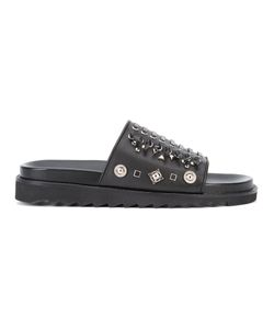 Toga | Laced Sliders Mens Size 44 Leather/Rubber/Metal Other