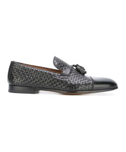 Doucal's | Interlaced Tassel Loafers Mens Size 44 Leather