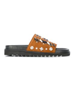 Toga | Woven Detail Sandals Mens Size 44 Suede/Leather/Rubber/Metal Other