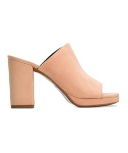 Robert Clergerie | Chunky Heel Mules Womens Size 37 Leather/Suede