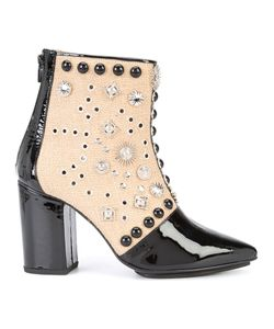 Toga | Studded Ankle Boots Womens Size 39 Cotton/Patent Leather/Metal Other
