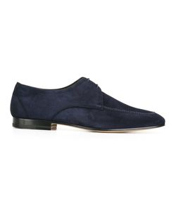 FRATELLI ROSSETTI | Square-Toe Brogues Mens Size 7.5 Suede/Leather/Cotton