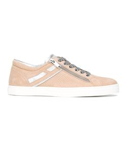 Hogan Rebel | Zip Detail Sneakers Womens Size 36 Suede/Leather/Rubber