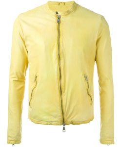 Giorgio Brato   Zipped Jacket Mens Size 52 Leather/Cotton