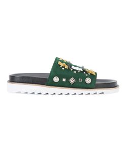 Toga | Laced Sliders Mens Size 41 Leather/Rubber/Metal Other