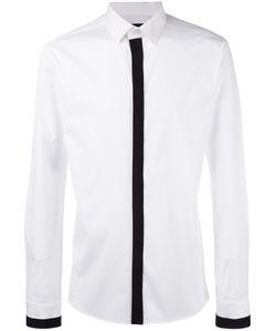 Les Hommes | Grossgrain Trim Shirt Mens Size 52 Cotton/Spandex/Elastane