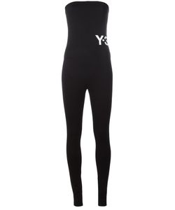Y-3 | Logo Print Jumpsuit Womens Size Small Spandex/Elastane/Polyester