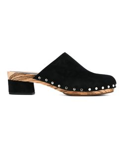 Proenza Schouler | Stud Trim Clogs Womens Size 40 Suede/Wood/Leather/Leather