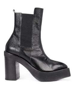 Yang Li | Platform Mid-Calf Boots Womens Size 40 Leather/Rubber/Calf Leather/Spandex/Elastane