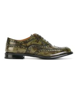 Church's | Camouflage Brogues Womens Size 37 Calf Leather/Leather/Rubber