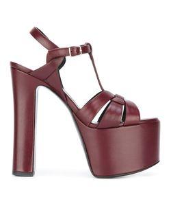 Saint Laurent | Platform Sandals Womens Size 38 Calf Suede/Leather