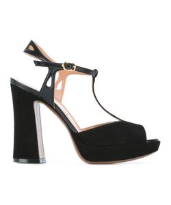 L'Autre Chose | Chunky Heel Sandals Womens Size 40 Leather/Calf Leather