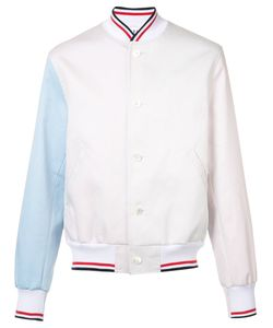 Thom Browne | Contrast Sleeve Jacket Mens Size 2 Cupro/Cotton/Polyester