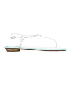 Rene Caovilla | René Caovilla Thong Sandals Womens Size 39 Leather/Stone