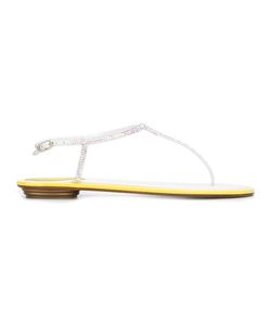 Rene Caovilla | René Caovilla Thong Sandals Womens Size 39.5 Leather/Stone