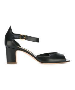 Rupert Sanderson   Mid Heel Sandals Womens Size 37.5 Leather