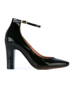 L'Autre Chose | Ankle Strap Pumps Womens Size 40 Calf Leather/Leather