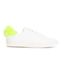Anya Hindmarch | Furry Trim Trainers Womens Size 37 Nappa Leather/Leather/Artificial