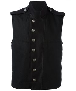Ann Demeulemeester | Military Waistcoat Mens Size Large Hemp/Linen/Flax/Cotton