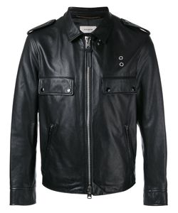 Coach | Zipped Jacket Mens Size 48 Leather/Polyester/Cupro