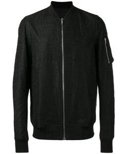 Rick Owens   Flight Bomber Jacket Mens Size 52 Cotton/Linen/Flax/Viscose/Cupro