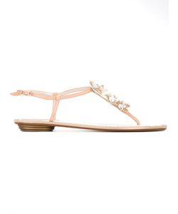 Rene Caovilla | René Caovilla Embellished Thong Sandals Womens Size 41 Leather/Plastic