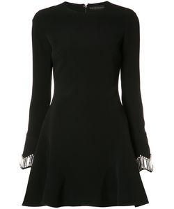 David Koma | Embroide Cuffs Dress Womens Size 12 Acetate/Spandex/Elastane/Viscose