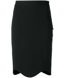 Givenchy   Curved Hem Knee Length Skirt Womens Size 38 Viscose/Polyamide/Spandex/Elastane/Silk