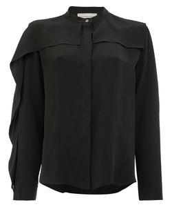 Maison Rabih Kayrouz   Frill Detail Shirt Womens Size 40 Silk/Acetate
